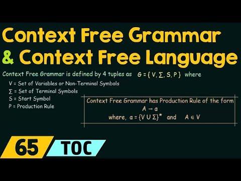 Context Free Grammar & Context Free Language