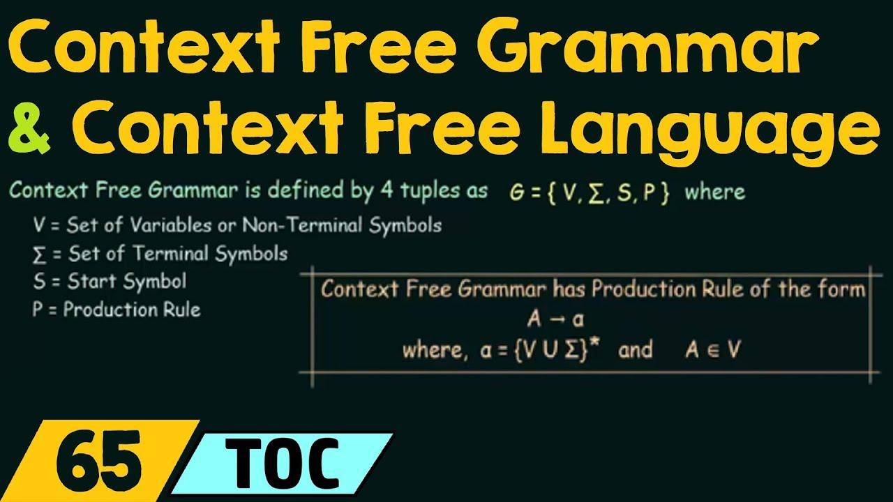 Context free grammar context free language youtube context free grammar context free language biocorpaavc