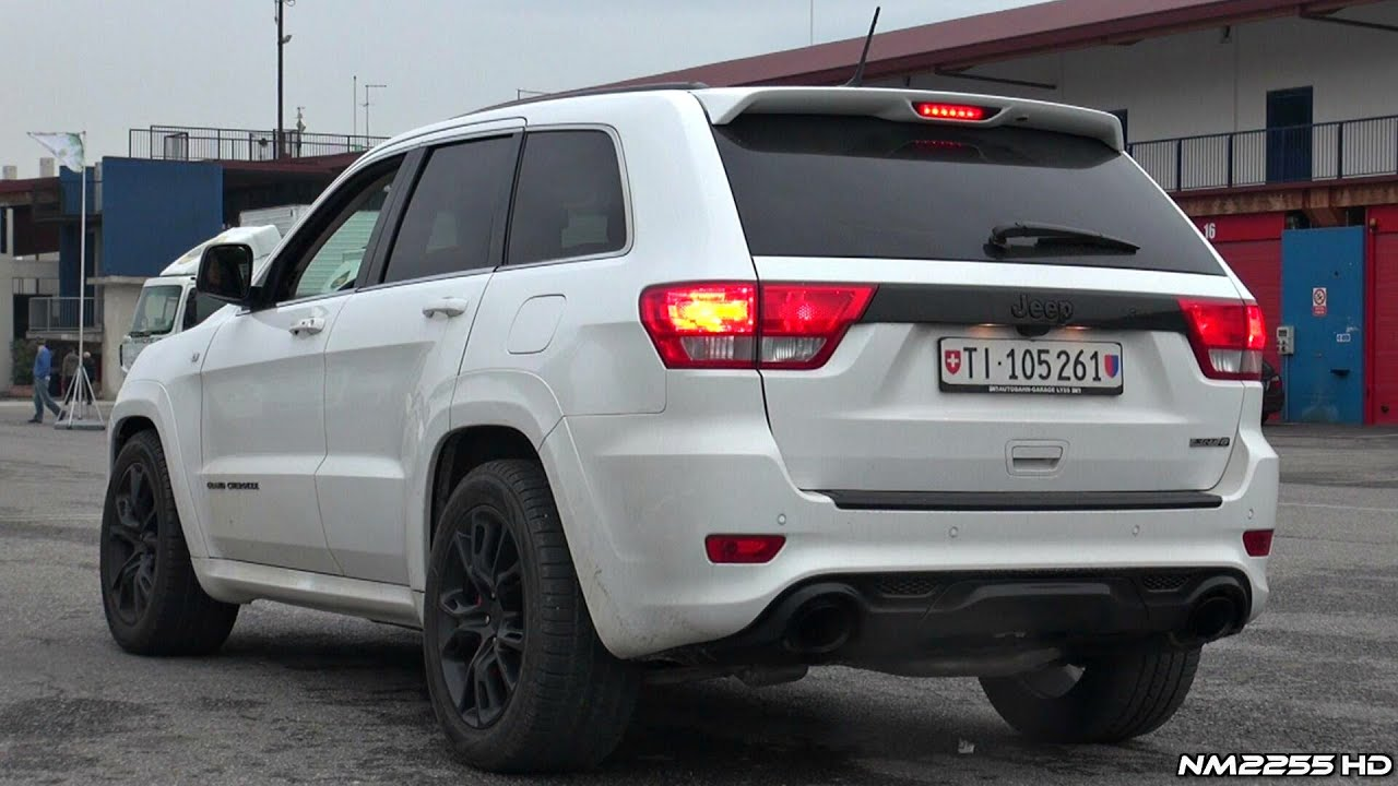 2014 jeep grand cherokee srt8 stock exhaust sound - youtube
