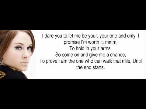 Adele One and Only Lyrics Hd 1080p