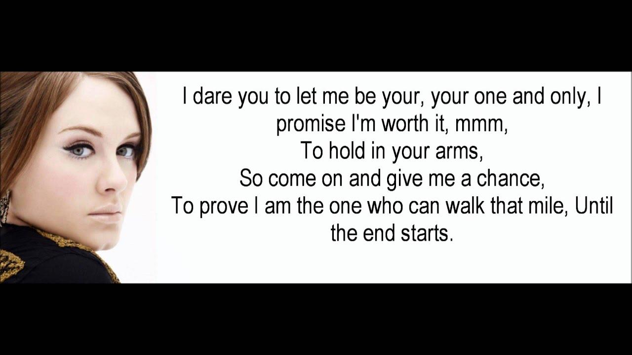 Adele - One and Only LYRICS! - YouTube