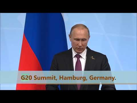 (English) RUSSIA: G20 Summit 2017. PUTIN Answers Reporter Questions After Meetings In Hamburg.