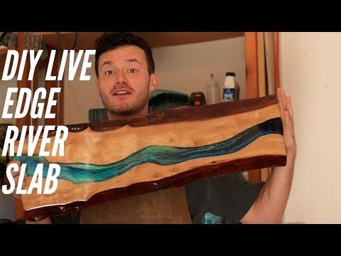 DIY Live Edge River Art