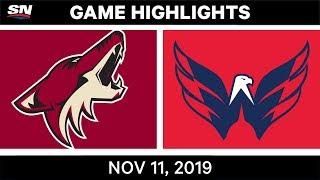 NHL Highlights   Coyotes vs. Capitals – Nov. 11, 2019