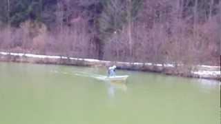 1. Testfahrt --- Brush Cutter on a Boat ---