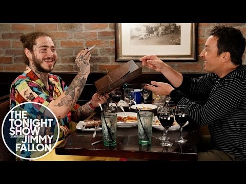 Post Malone Takes Jimmy Fallon to Olive Garden: Jimmy has never tried the Olive Garden before, so Post Malone takes him to experience his favorite restaurant the right way.  Subscribe NOW to The Tonight Show Starring Jimmy Fallon: http://bit.ly/1nwT1aN  Watch The Tonight Show Starring Jimmy Fallon Weeknights 11:35/10:35c Get more Jimmy Fallon:  Follow Jimmy: http://Twitter.com/JimmyFallon Like Jimmy: https://Facebook.com/JimmyFallon  Get more The Tonight Show Starring Jimmy Fallon:  Follow The Tonight Show: http://Twitter.com/FallonTonight Like The Tonight Show: https://Facebook.com/FallonTonight The Tonight Show Tumblr: http://fallontonight.tumblr.com/  Get more NBC:  NBC YouTube: http://bit.ly/1dM1qBH Like NBC: http://Facebook.com/NBC Follow NBC: http://Twitter.com/NBC NBC Tumblr: http://nbctv.tumblr.com/ NBC Google+: https://plus.google.com/+NBC/posts  The Tonight Show Starring Jimmy Fallon features hilarious highlights from the show including: comedy sketches, music parodies, celebrity interviews, ridiculous games, and, of course, Jimmy's Thank You Notes and hashtags! You'll also find behind the scenes videos and other great web exclusives.  Post Malone Takes Jimmy Fallon to Olive Garden http://www.youtube.com/fallontonight  #FallonTonight #PostMalone #JimmyFallon