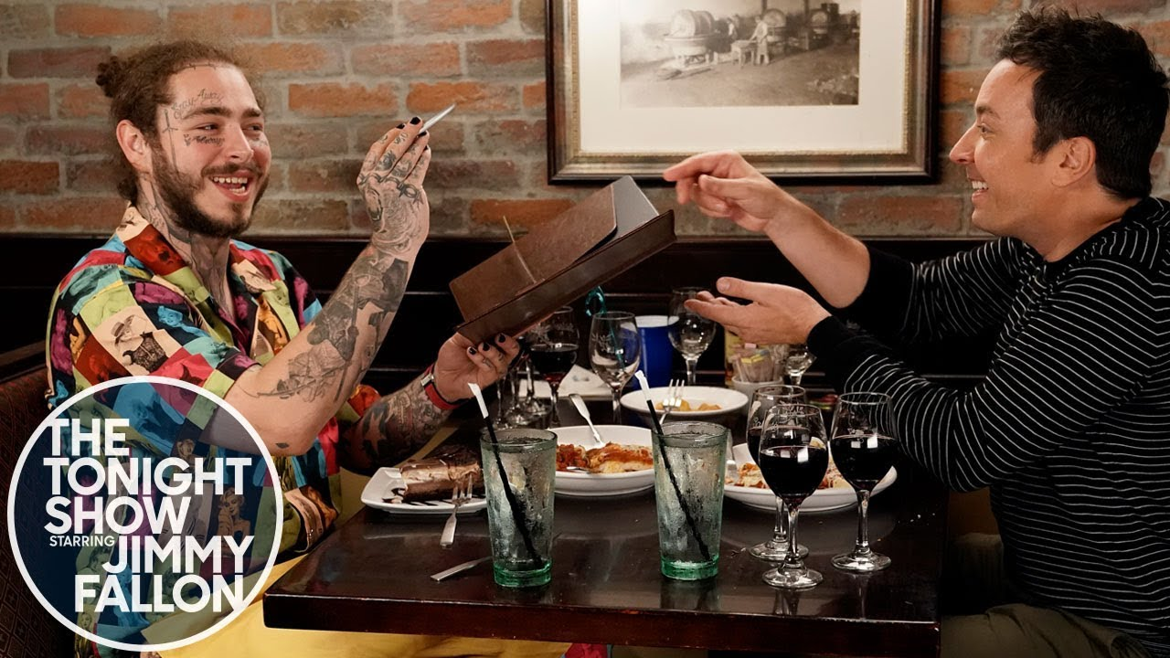 [VIDEO] - Post Malone Takes Jimmy Fallon to Olive Garden 7
