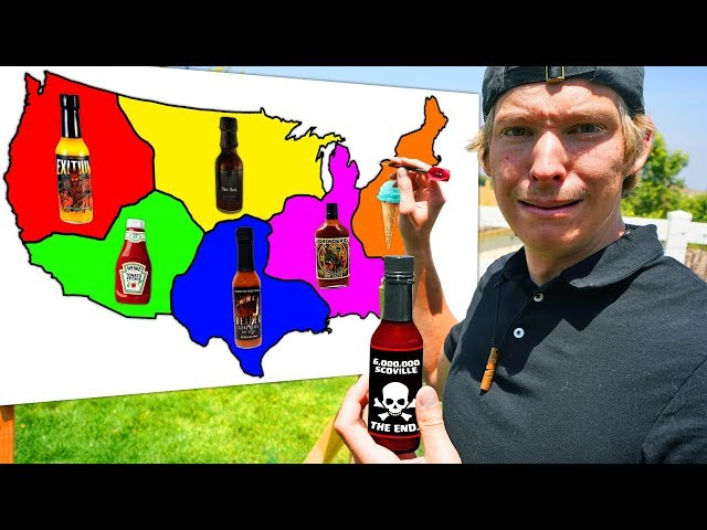 Throwing Darts at a Map and Eating Whatever Hot Sauce it Lands on!! *6 MILLION SCOVILLE*