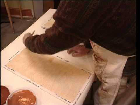 how-to woodgraining birds eye maple paint effect by Polyvine