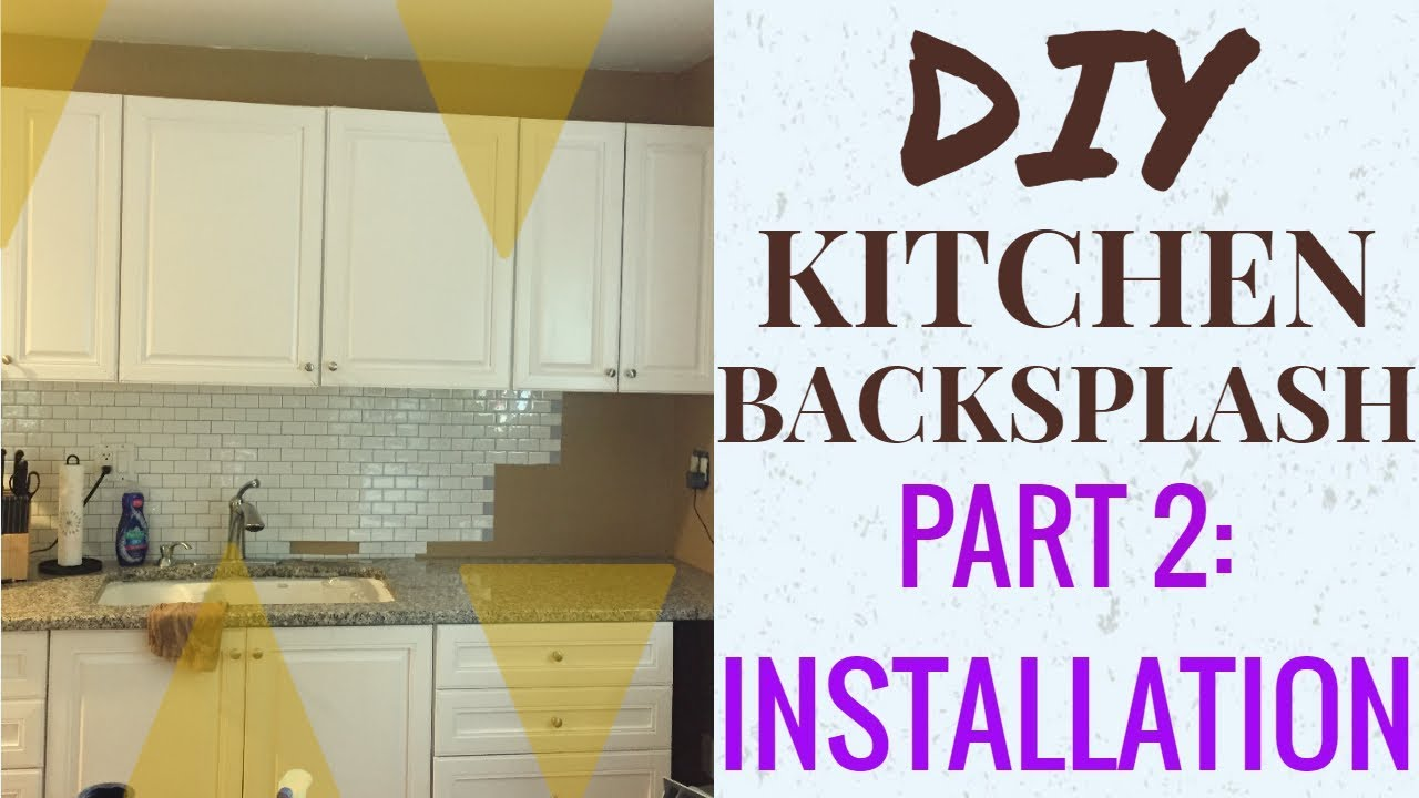 Diy Kitchen Backsplash Made Simple Tic Tac Tiles Part 2 Installation Review