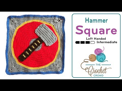 """How to Crochet Action Packd Hammer Square: 18"""" x 18"""""""