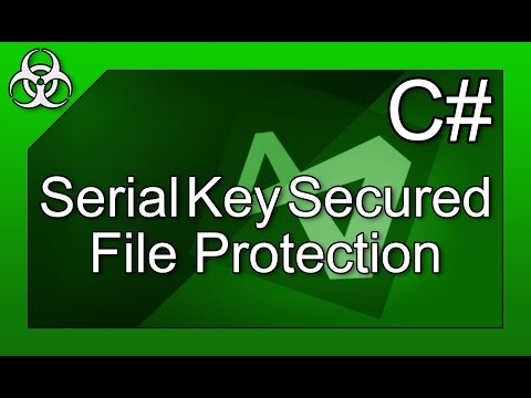 How to Secure File with Serial Protection in C# Tutorial Visual Studio