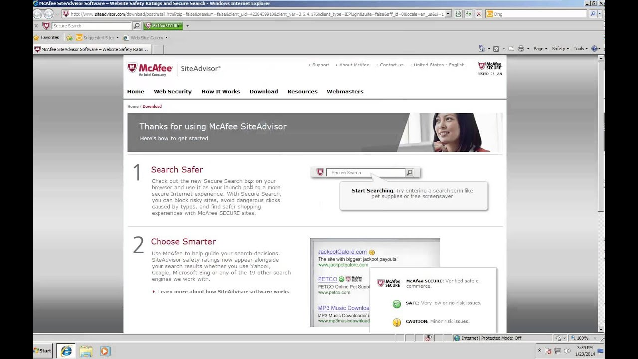 McAfee SiteAdvisor Test and Review