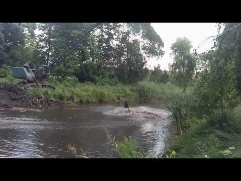 Как очистить озеро став пруд. Как работает экскаватор драглайн