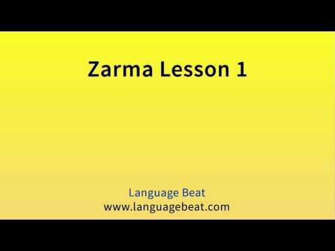 Learn Zarma   :  Lesson 1  -  Zarma  Phrases for Beginners
