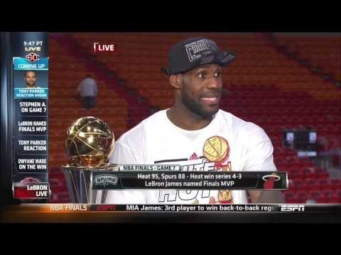 June 20, 2013 - ESPN - LeBron James Interview - 2013 NBA Finals Game 07 (Heat Vs Spurs)