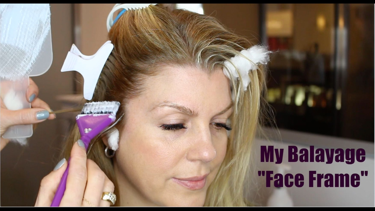 How to Balayage - Face Frame - YouTube
