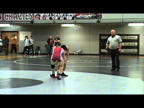 Daniel Slobaszewski Warrensburg vs  Devin Gumabon Grandview  138 lbs