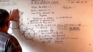 Стереометрия. ЕГЭ. В правильной шестиугольной призме найдите расстояние от точки B до прямой A1 F1