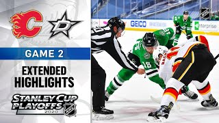 Calgary Flames vs Dallas Stars | Stanley Cup 2020 | Game 2 | Aug.13, 2020 | Обзор матча