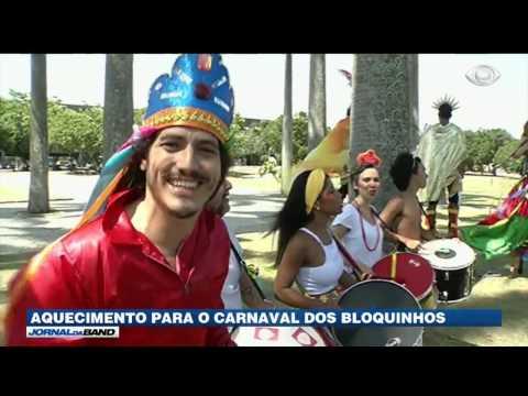 Começa o aquecimento para o Carnaval nos blocos de rua