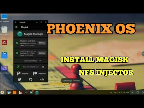How to Install magisk v19 1 Latest On Phoenix Os with NFS injector by  Stalwart Gamer