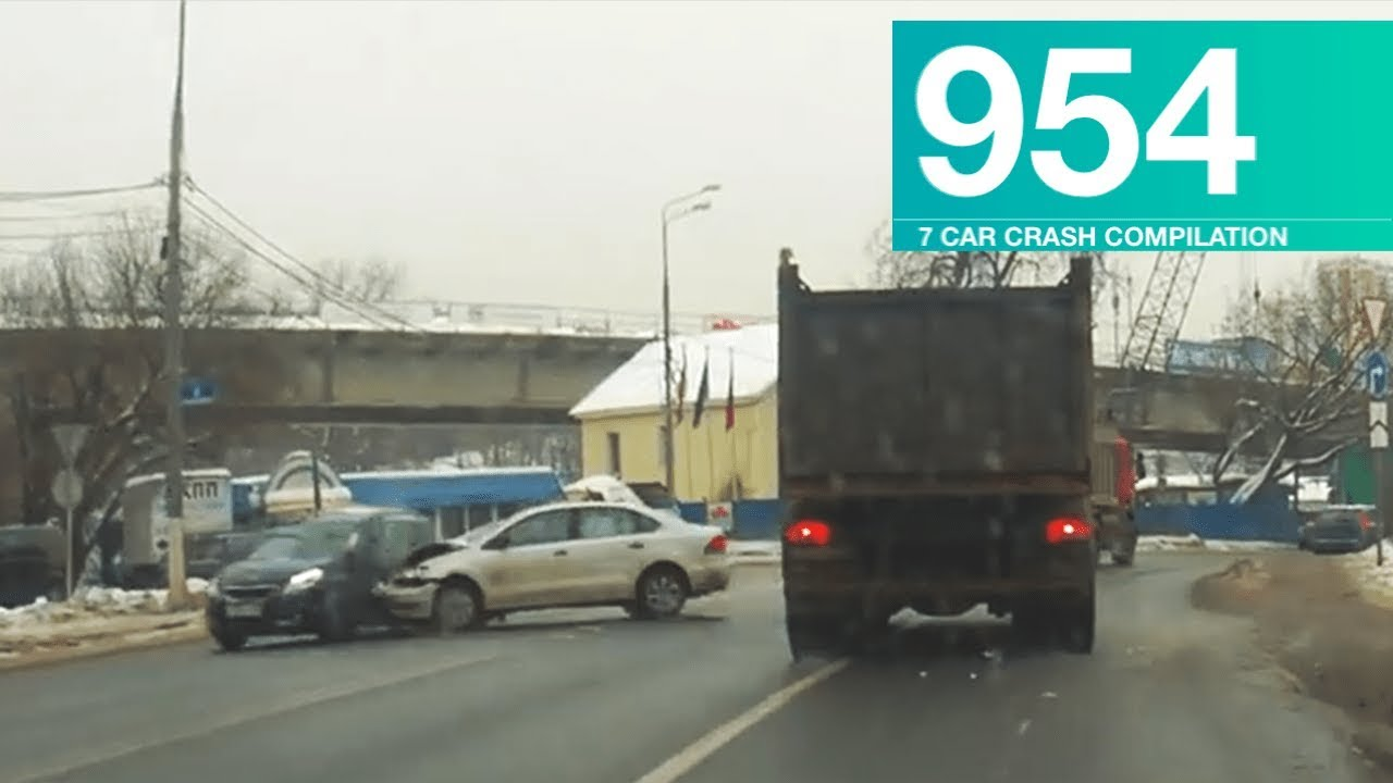 Car Crash Compilation 954 - February 2018 - YouTube