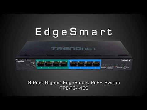 TRENDnet 8-Port Gigabit EdgeSmart PoE+ Switch - TPE-TG44ES