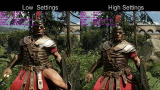 Ryse Son Of Rome Low vs High Settings