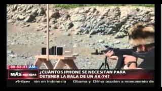 Cuantos Iphone se necesitan para detener la bala de un AK-47?
