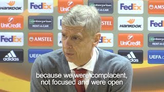 Arsene Wenger - 'Arsenal Complacent & Not Focused In Ostersund Defeat'