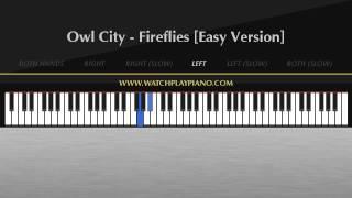 Owl City - Fireflies [Easy Piano Tutorial]