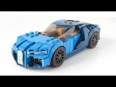 Lego Bugatti Chiron MOC in minifig scale