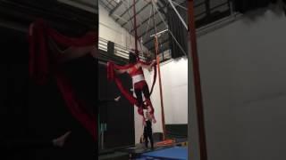 Aerial Dancer Falls Hard at Practice