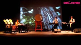 Japanese taiko drum Concert in kuwait 3 Ringo Oiwake ( Apple Forked Road )