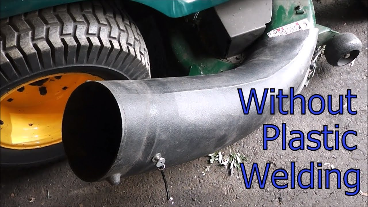 The best way to repair a broken riding lawnmower bagger chute seam