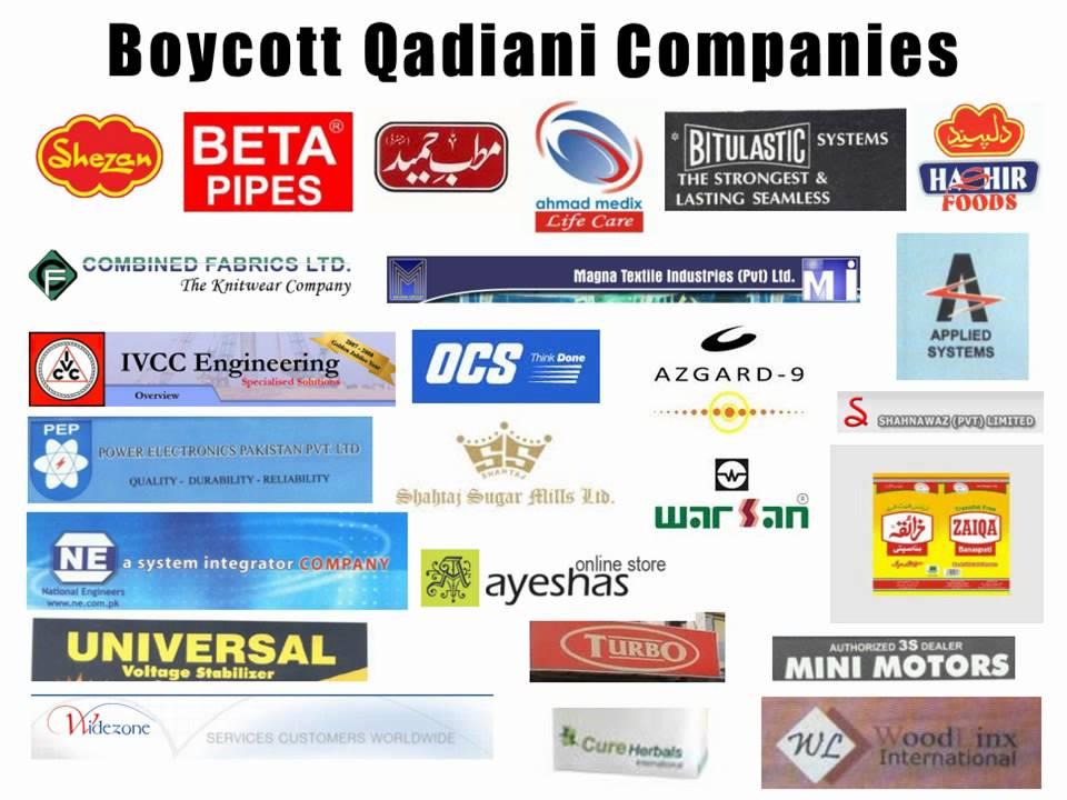 Boycott Qadiani Companies