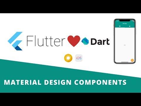 Flutter - Material Design Widgets   Tabs   BottomNavigationBar   Stepper   Snackbar etc.