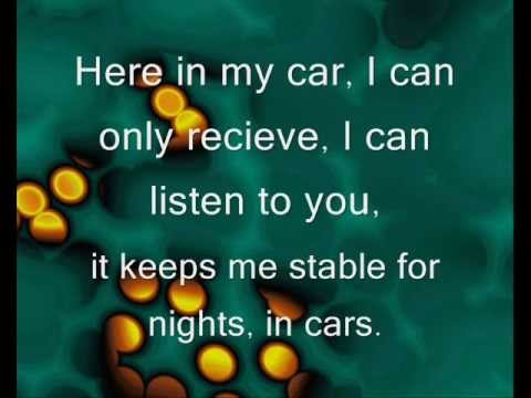 Gary Numan- Cars lyrics