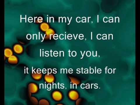 Gary Numan- Cars lyrics