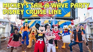 Mickey's Sail-a-Wave Party aboard Disney Wonder cruise ship