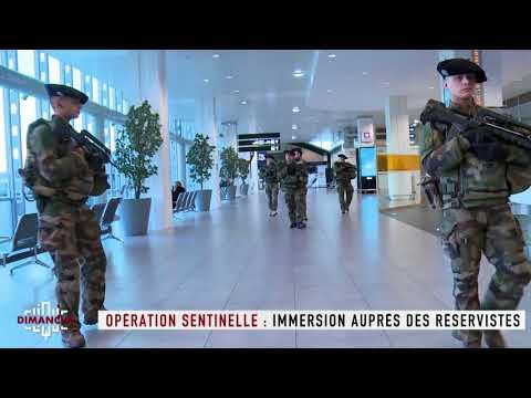 Opération sentinelle : immersion auprès des réservistes  - Clique Dimanche du 15/04 - CANAL+