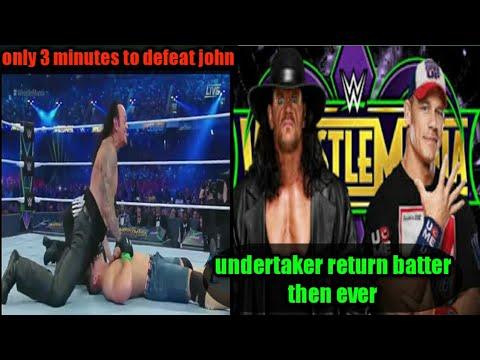 Download undertaker returns and defeat john cena in 3 minutes in wrestlemania 34