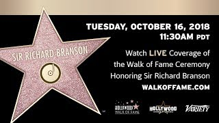 Sir Richard Branson - Hollywood Walk of Fame Ceremony - Live Stream