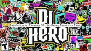 DJ Hero Soundtrack with Download Link  : Satisfaction vs Elements of Life - Tiesto vs Benny Benassi