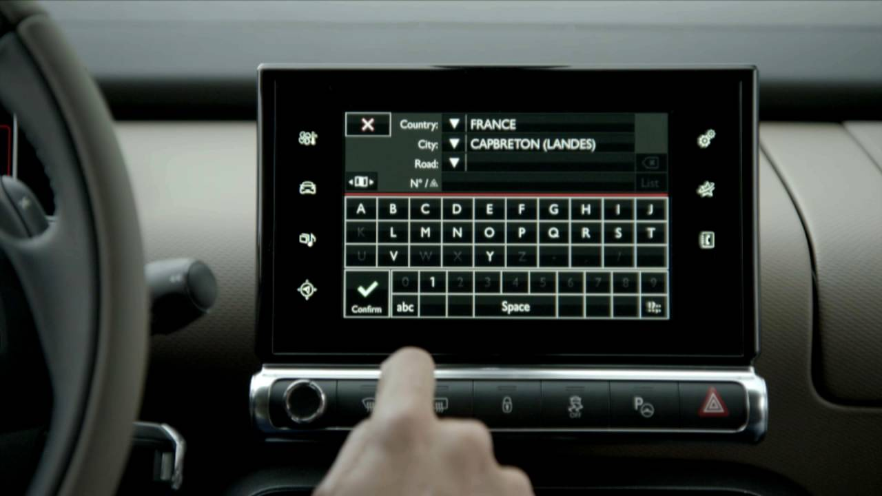 Citroen C4 Cactus >> Citroën C4 Cactus - How the navigation works on the touch screen ? - YouTube