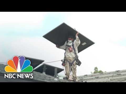 Batteries Used To Store Personal Solar Energy Expected To Double In 2021   NBC News NOW