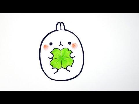 몰랑 몰랑이 그리기 How to draw Bunny Molang #048 cut