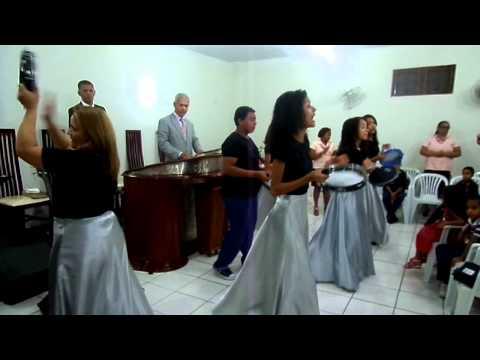 Os pandeiristas da igreja Ass de Deus ebenezer em Jequitinhonha