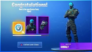 I Got The Cobalt Starter Pack in Fortnite Battle Royale!